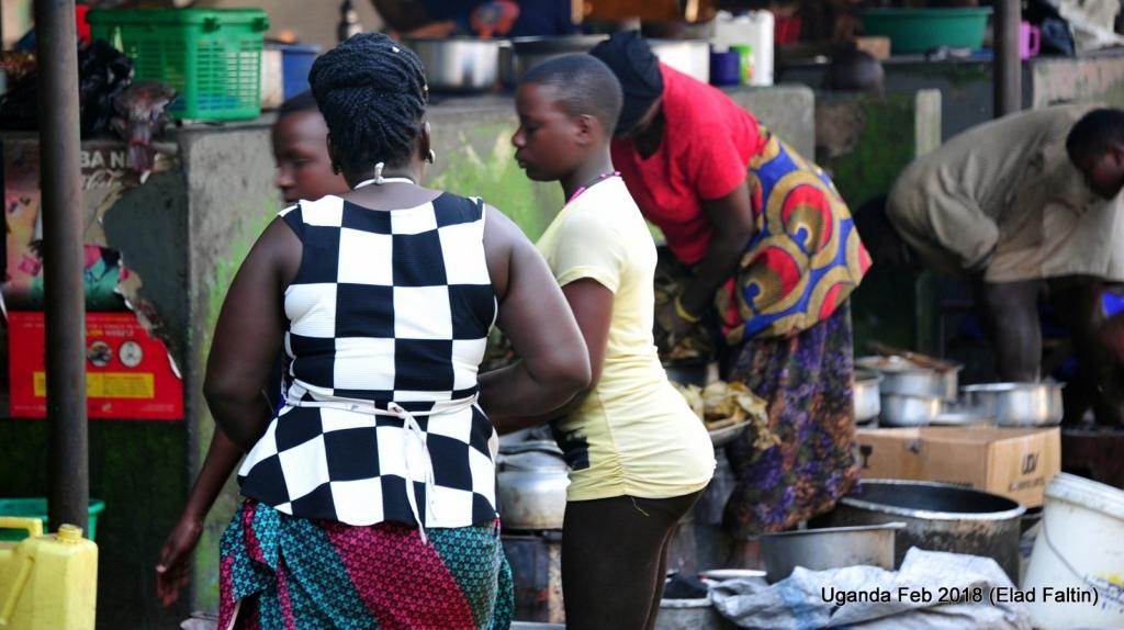 שווקים ואנשים אוגנדה אפריקה