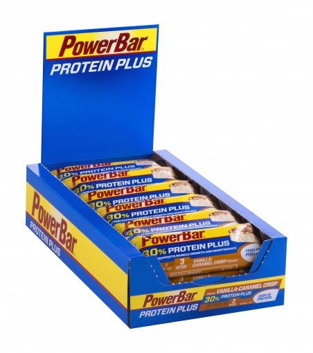 PowerBar Protein Plus 30 Bars Vanilla-Caramel Crisp box